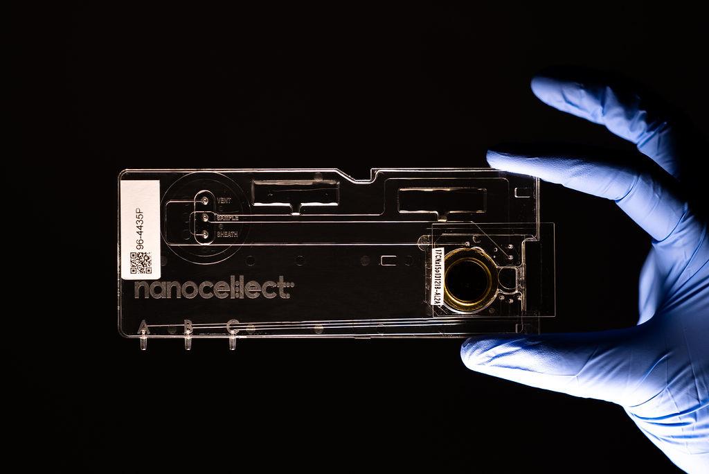 cartridge held by glove